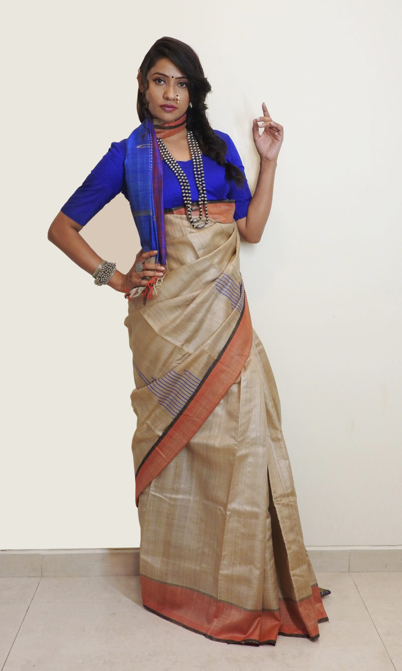 Bhagalpuri Silk – Earthy Blue